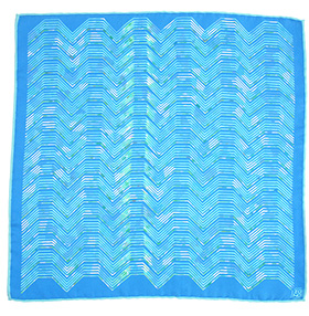 Zana Aztec Silk Pocket Square