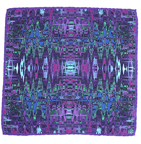 Zana MIrror Silk Pocket Square