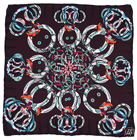 Zana Cosmic Silk Pocket Square